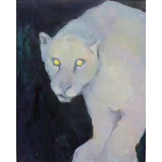 """Original Oil Painting """"Were-Jaguar"""" by Contemporary Artist Michelle Farro For Sale"""