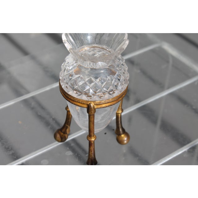 19th Century Famed Glass House F. & C. Osler Gilt Bronze Cut Crystal Epergne For Sale In Miami - Image 6 of 11