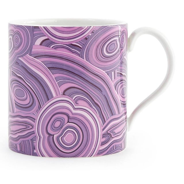 Modern Jonathan Adler Malachite-Patterned Mugs - Set of 2 For Sale - Image 3 of 6
