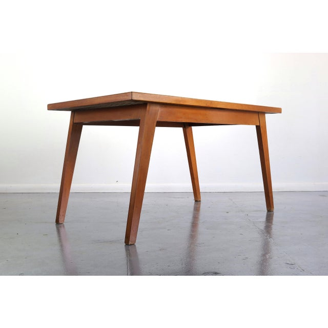 Articulate Woven Mid Century Dining Set in Teak With Glass Top Table For Sale - Image 4 of 9