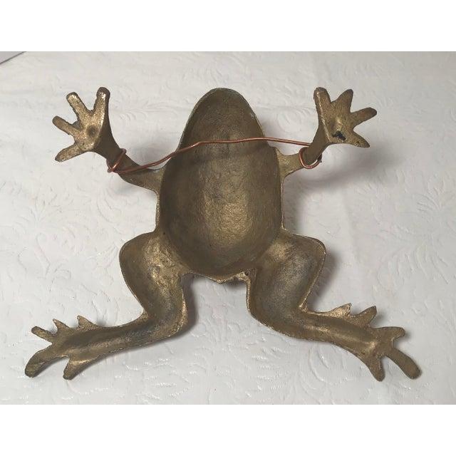 Gold Vintage Brass Frog Figurine For Sale - Image 8 of 9