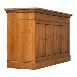 c.1825 Original Antique French Louis Philippe Wild Cherry 2 over 4 Buffet For Sale