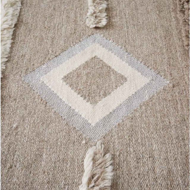 Boho Chic West Elm Mosaic Shimmer Shag Kilim Rug - 8'x10' For Sale - Image 3 of 3