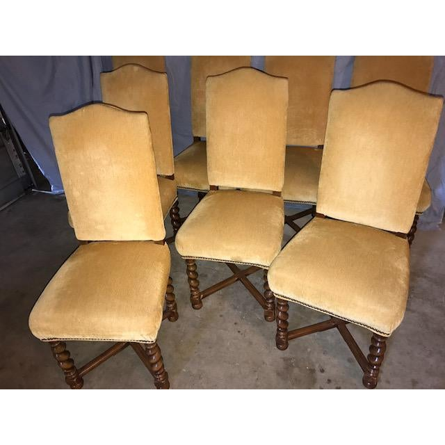 French Vintage Dining Chairs - Set of 8 - Image 10 of 11