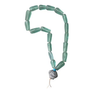 Rare Mid-Century Seafoam African Trade Beads For Sale