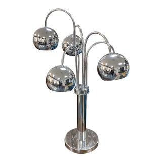 Sonneman Chrome Mid Century Table Lamp For Sale