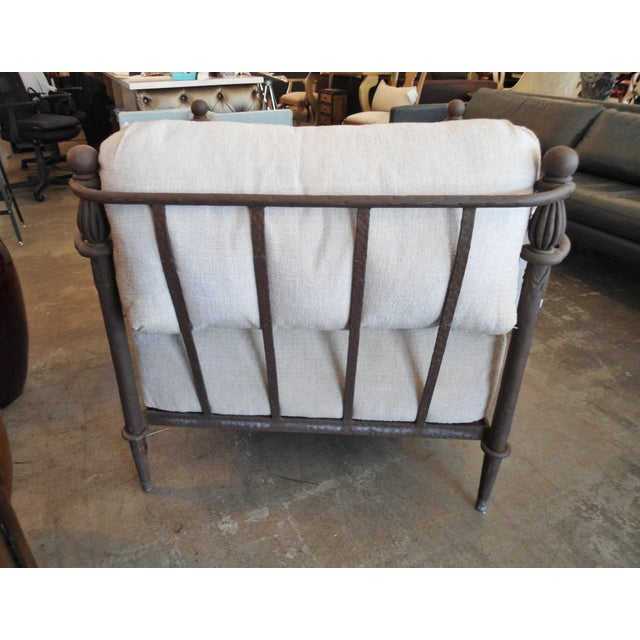Michael Taylor Montecito Iron Lounge Chair W/ Ottoman For Sale - Image 5 of 5