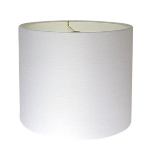 Large White Linen Custom Drum lampshade For Sale
