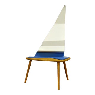 Levy Mid Century Modern Modernist Steel Abstract Nautical Sailboat Sculpture Vintage For Sale
