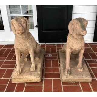 Terra-cotta Spaniel Dogs