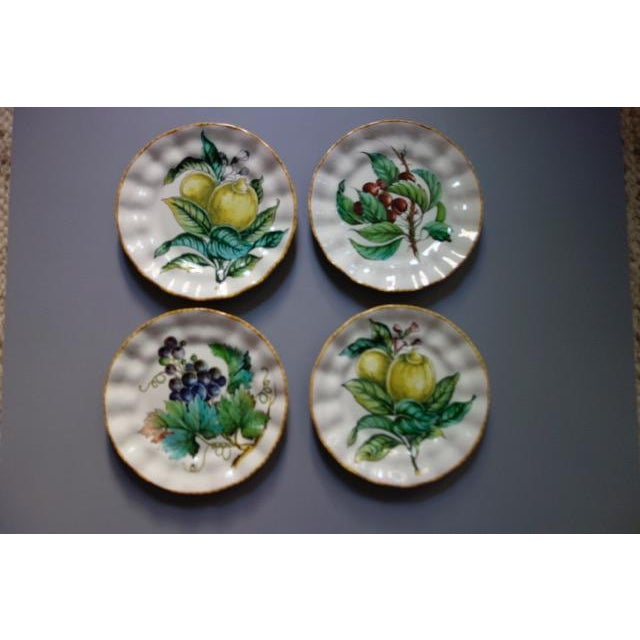 Vintage Italian Hand Painted Signed Fruit Plates - Set of 4 For Sale - Image 9 of 9