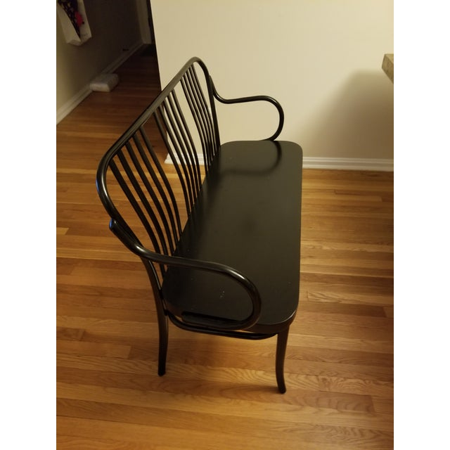 Contemporary Crate & Barrel Black Sonny Bench For Sale - Image 3 of 4