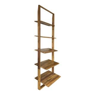 Rustic Riverside Furniture 5 Shelf Wooden Bookcase For Sale