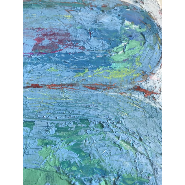 """Original Mixed Media Painting """"Colliding Worlds"""" For Sale In Charlotte - Image 6 of 10"""