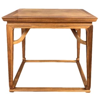 Michael Taylor for Baker Furniture Chinoiserie Walnut Side Table For Sale