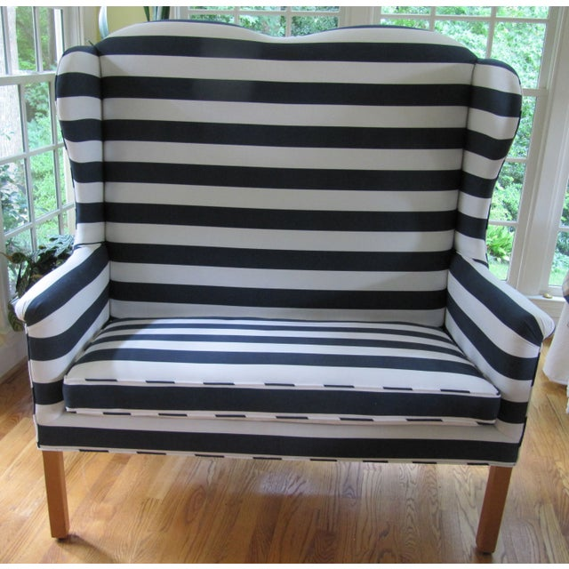 Rehabbed North Hickory Settee and Matching Chair For Sale In Atlanta - Image 6 of 8