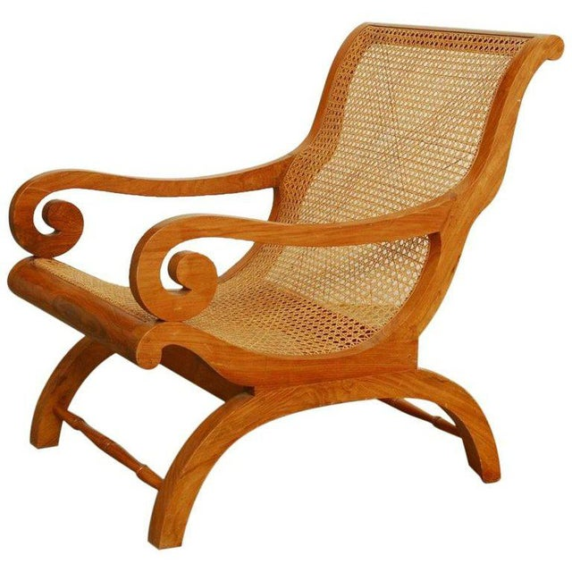 Anglo-Indian Teak and Cane Plantation Chair For Sale - Image 13 of 13