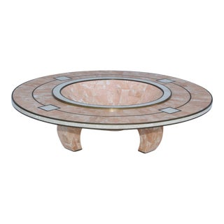 Maitland-Smith Tessellated Stone Art-Deco Style Bowl For Sale