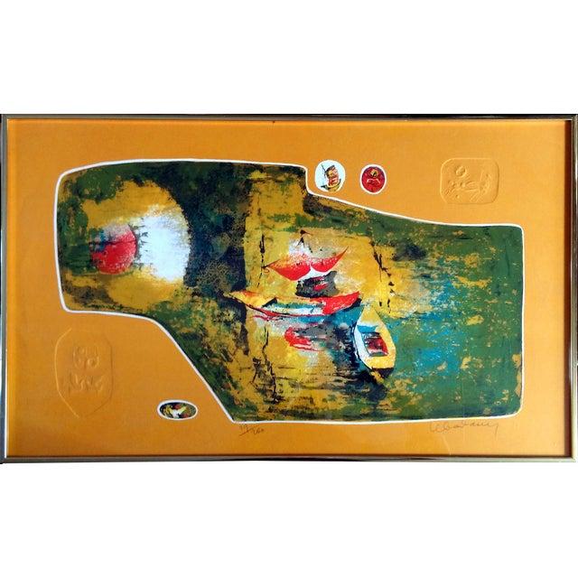 """Bord du Lac I"" Lithograph by Hoi Lebadang - Image 2 of 11"