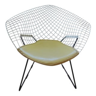 Vintage Mid Century Harry Bertoia Wire Diamond Chair For Sale