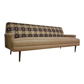 Mid-Century Modern Beige Sofa