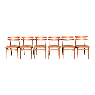 Vintage Danish Teak Dining Chairs - Set of 6 For Sale