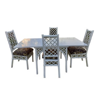 Vintage Ficks & Reed Dining Table & Chairs - 5 Pc Set For Sale