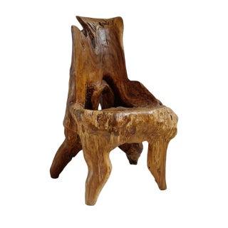 Organic Burl Stump Chair For Sale