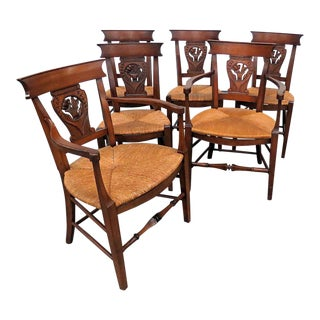 Set of 6 French Provincial Style Dining Chairs For Sale