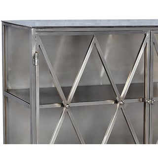 Nickel Finish Side Cabinet Preview