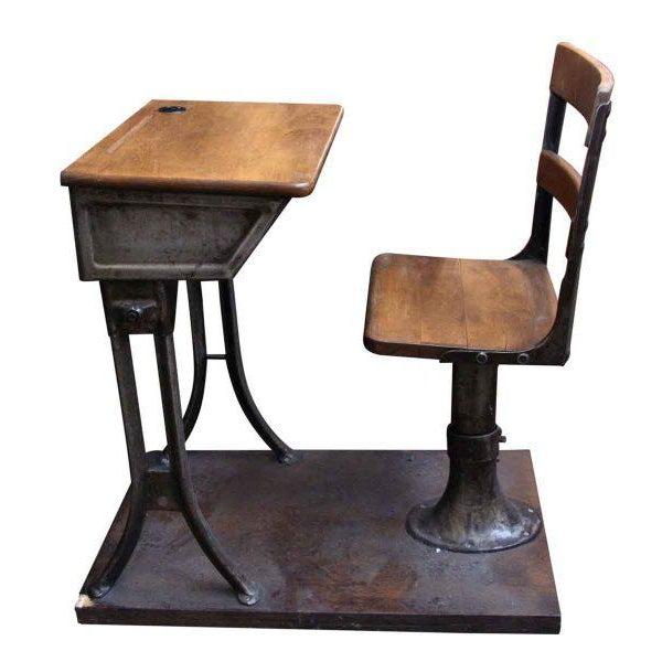 Antique Childrens School Desk - Image 2 of 7