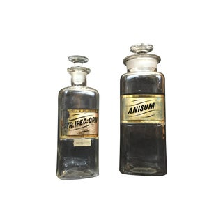 Antique Apothecary Bottles - A Pair