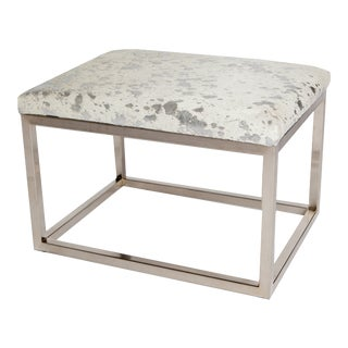 Silver & White Chris Bench For Sale