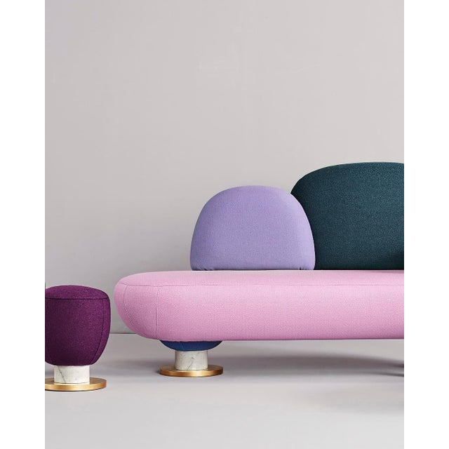 Modern Toadstool Collection Ensemble Sofa, Table and Puffs, Masquespacio For Sale - Image 3 of 13
