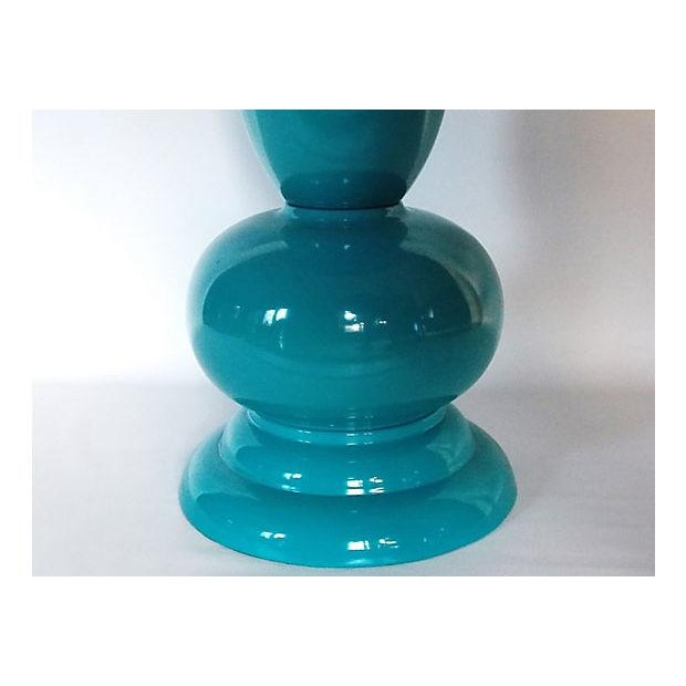 Teal Lacquer Bistro Table - Image 5 of 8