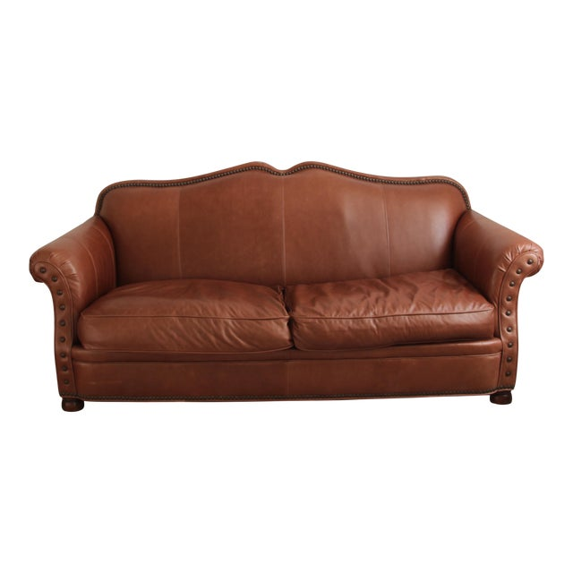 Lillian August Leather Sofa - Image 1 of 7