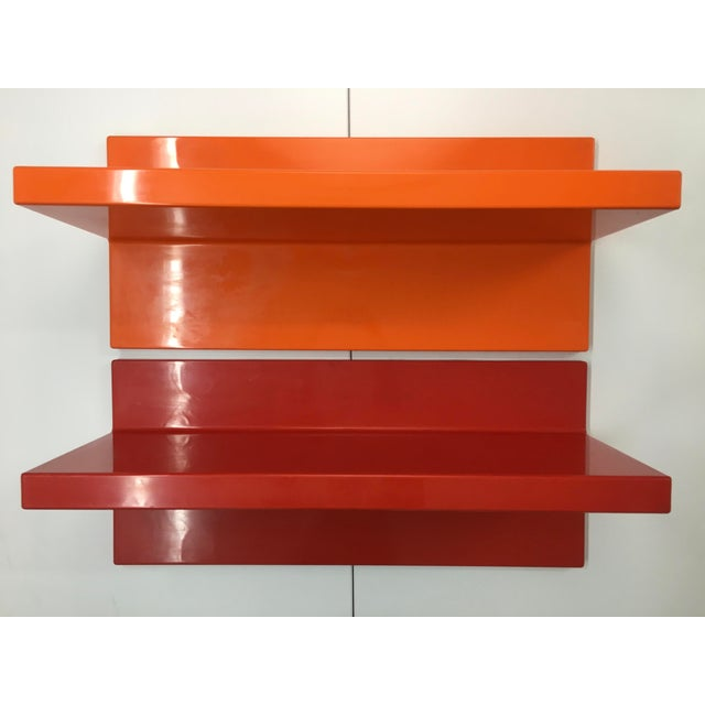 1970s Vintage Wall-Mounted Plastic Shelves by Marcello Siard for Kartell - a Pair For Sale - Image 13 of 13