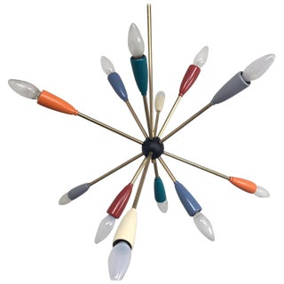1950s Sputnik Pendant Chandelier Lamp in Different Colors For Sale
