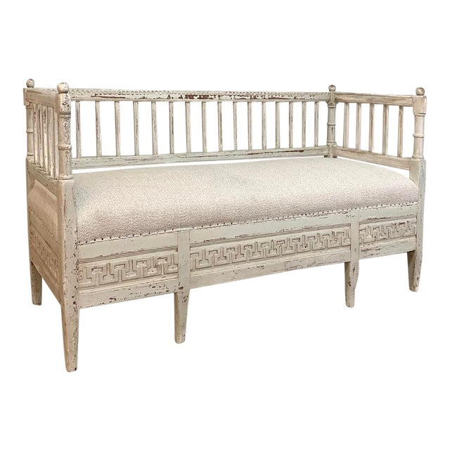 19th Century Swedish Painted Day Bed ~ Bench For Sale