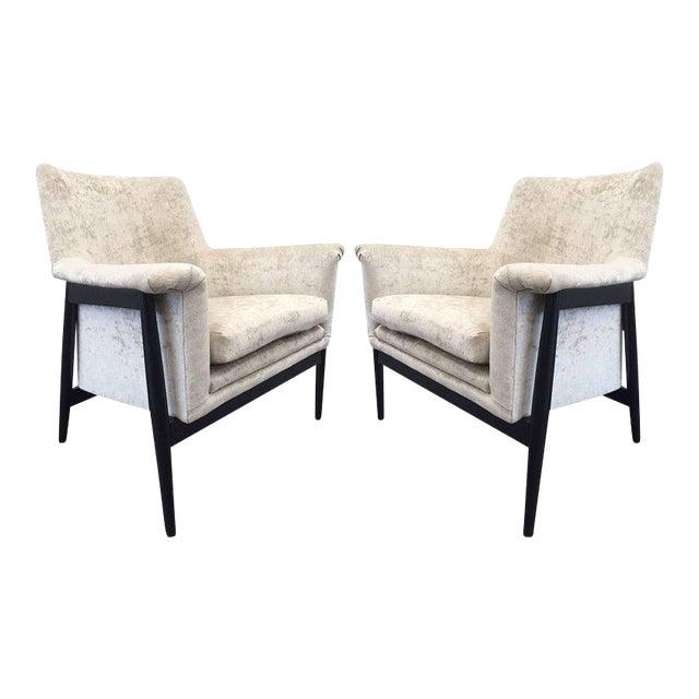 Pair of Danish Modern Lounge Chairs Ib Kofod Larsen - Image 1 of 7