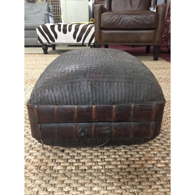 Asian Mid 19th Century Antique Storage Basket For Sale - Image 3 of 12