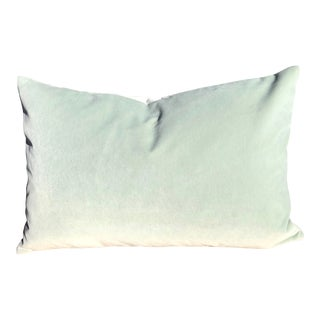 Lee Jofa Celadon Velvet Feather Down Accent Pillow For Sale