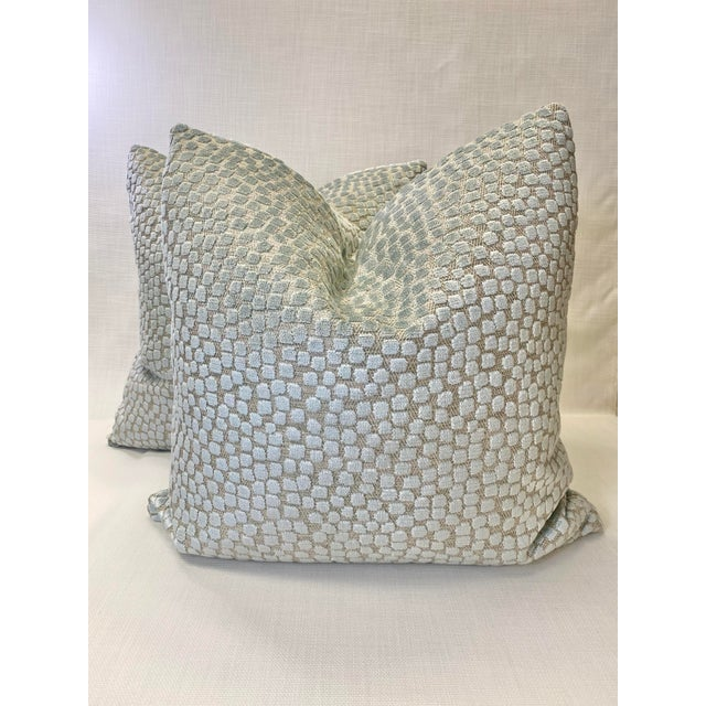 "2010s Kravet ""Flurries Seaspray"" 22"" Pillows-A Pair For Sale - Image 5 of 5"