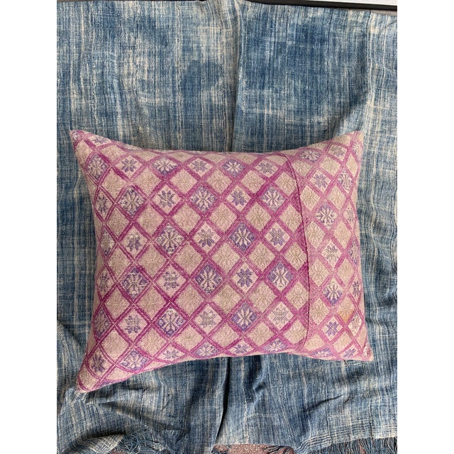 Antique Tribal Wedding Quilt Pillow For Sale - Image 4 of 11