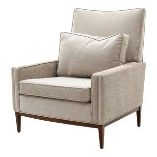 Paul McCobb Style Lounge Chair in New Leopard Print Velvet For Sale