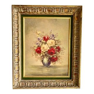 Mid Century Floral Still Life Framed Print For Sale
