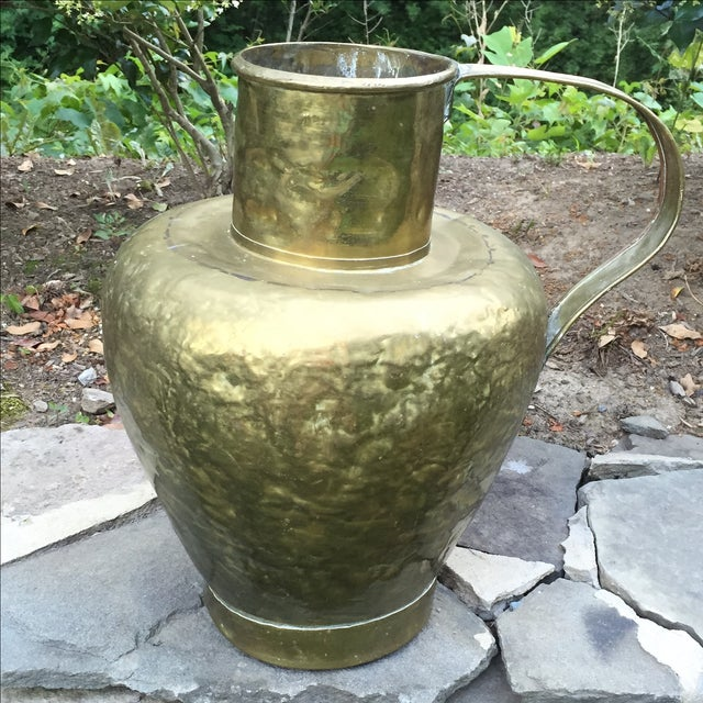 Antique Copper & Brass Hammered Water Jug - Image 2 of 11