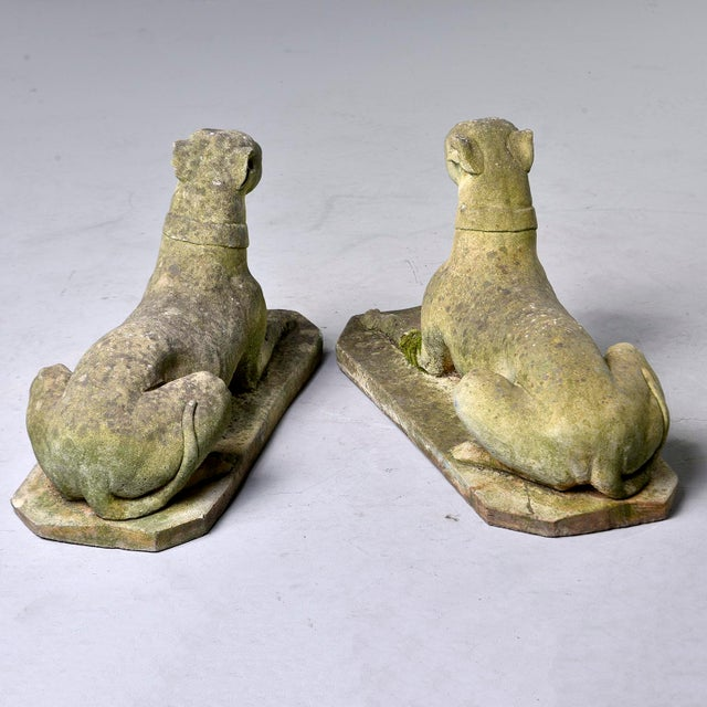 Vintage Stone Garden Whippets - a Pair For Sale - Image 4 of 13