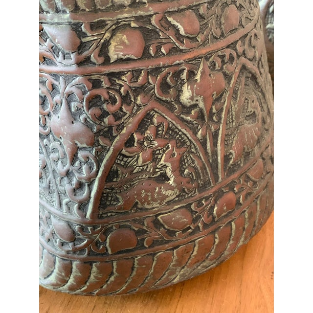 Metal Antique Turkish Water Jugs - a Pair For Sale - Image 7 of 12