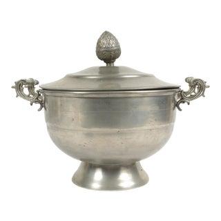 Belgian Pewter Sugar Bowl For Sale